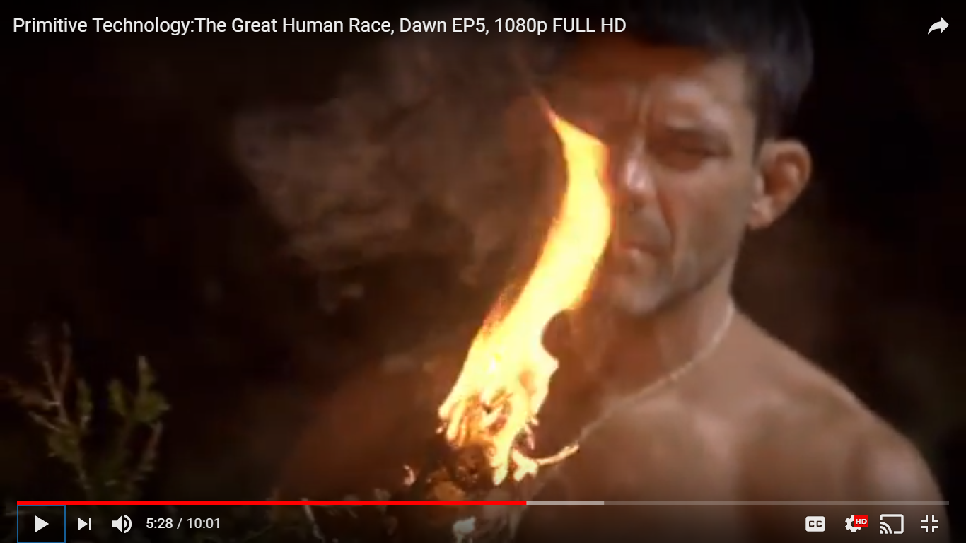 The Show Of Primitive Technology: The Great Human Race, Dawn